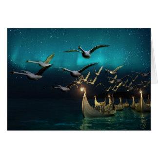Aurora Voyage Greeting Card