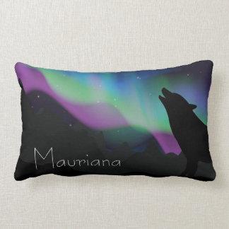 Aurora Wolf Starry Sky Personalized Lumbar Cushion