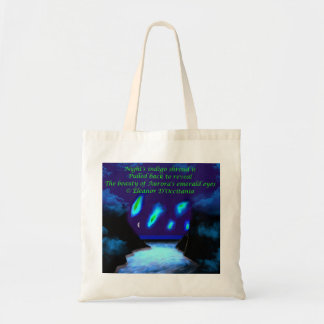 Aurora's Eyes Poetry Budget Tote Bag