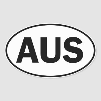 AUS Oval ID Oval Sticker