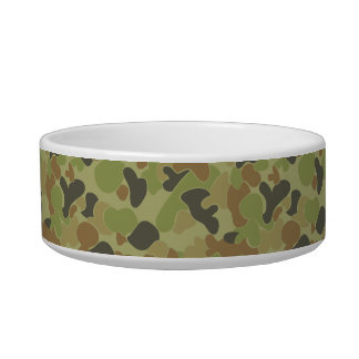 Auscam green camouflage bowl
