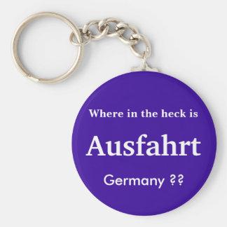 Ausfahrt Germany KeyChain