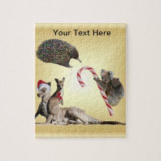 Aussie Animal Christmas Customisable Puzzles