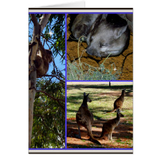 Aussie_Animals_Collage,_Small Note_Greeting_Card Note Card
