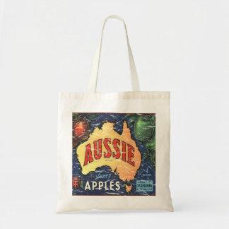 Aussie Apples- distressed Canvas Bag