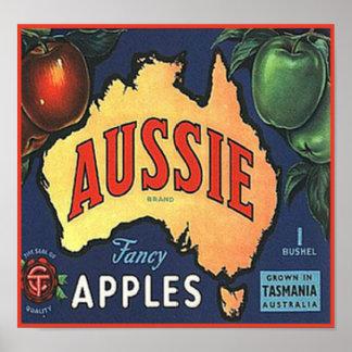 Aussie Apples Poster