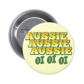 Aussie Aussie Aussie oi oi oi 6 Cm Round Badge