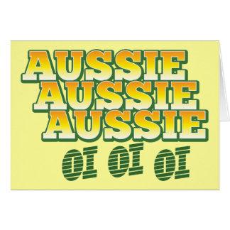 Aussie Aussie Aussie oi oi oi Greeting Card