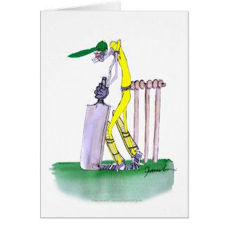 Aussie Batsman, tony fernandes Greeting Card