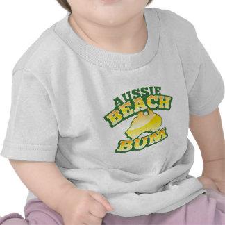Aussie Beach Bum! with Australian map T-shirts