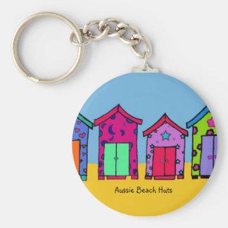 Aussie Beach Huts keychain