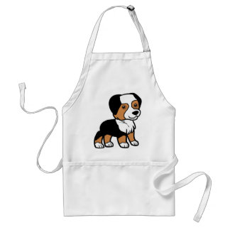 aussie black tri cartoon standard apron