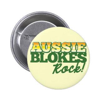 Aussie Blokes Rock! 6 Cm Round Badge