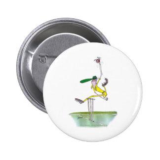 aussie bowler, tony fernandes 6 cm round badge