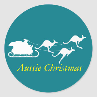 Aussie Christmas sticker down under style holidays