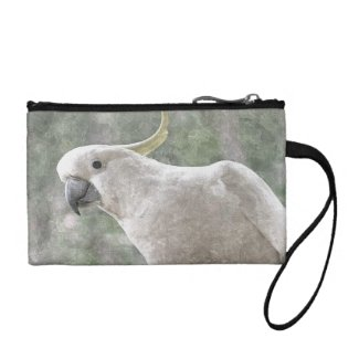 Aussie Cockatoo Key Coin Clutch