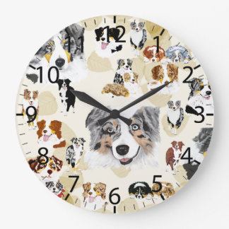 Aussie Collage Large Clock