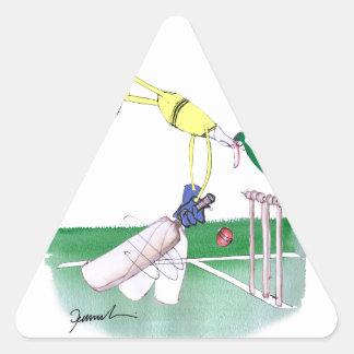 aussie cricketer opening bat, tony fernandes triangle sticker