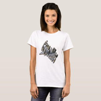 Aussie Crocodile Logo and Croc, Ladies Tshirt
