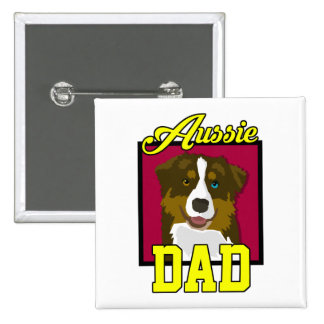 Aussie Dad 15 Cm Square Badge