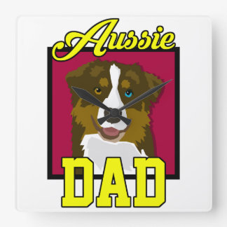 Aussie Dad Square Wall Clock