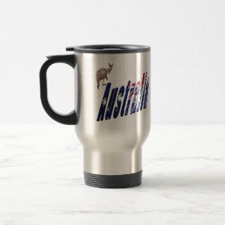 Aussie Dimensional Logo, Car Travel Mug
