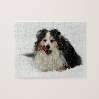 Aussie Dog Tongue Jigsaw Puzzle