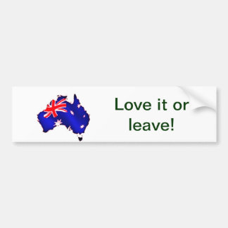 aussie flag bumper sticker
