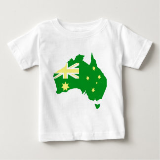 Aussie Flag Map Baby T-Shirt