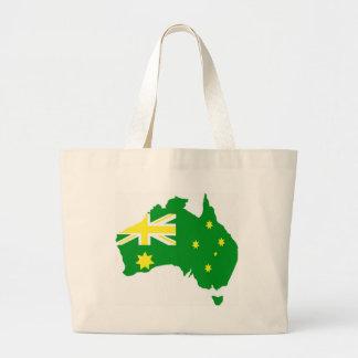 Aussie Flag Map Canvas Bags
