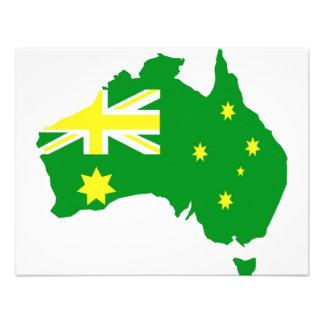 Aussie Flag Map Custom Invites