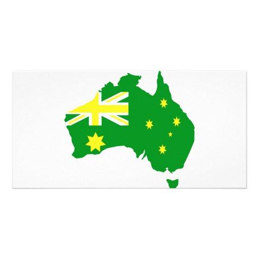 Aussie Flag Map Photo Cards