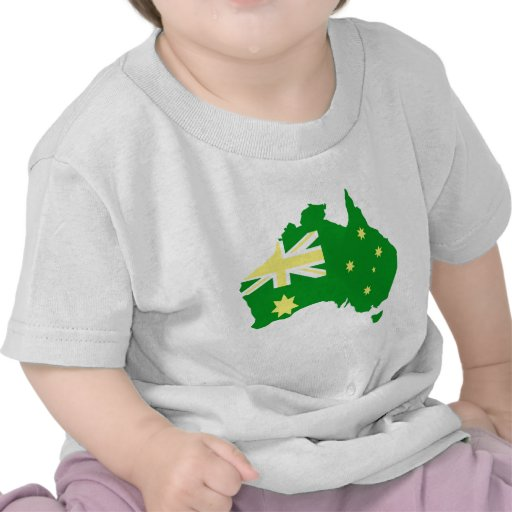 Aussie Flag Map Tee Shirt