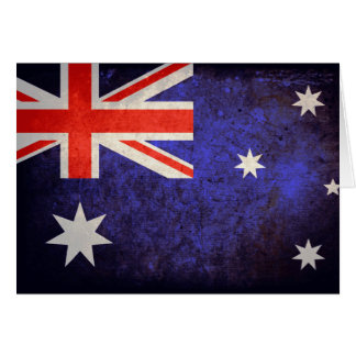 Aussie Flag Note Card