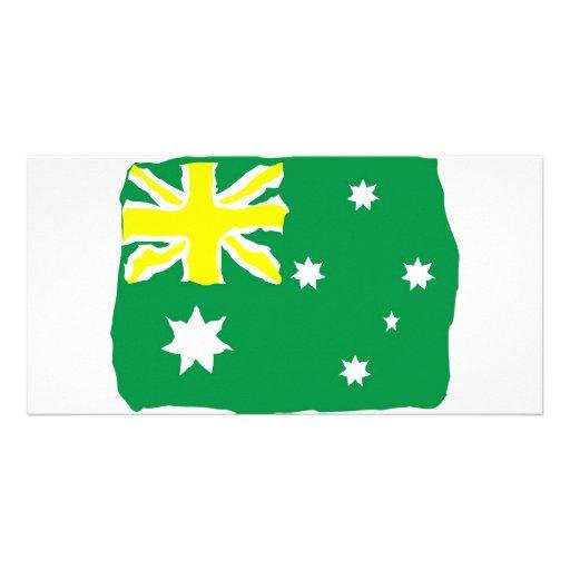 Aussie Flag Photo Card Template
