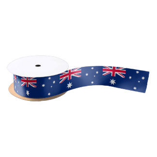 Aussie flag ribbon satin ribbon