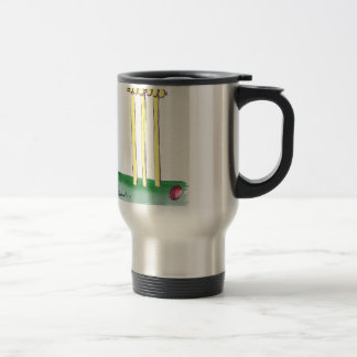 aussie golden cricket bails, tony fernandes travel mug