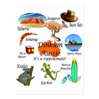 Aussie icons postcard
