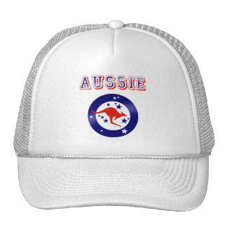 Aussie Kangaroo flag emblem logo gifts Trucker Hat