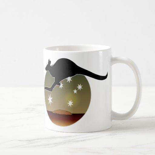 Aussie Kangaroo Icon Mug