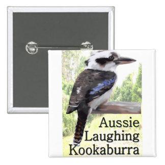 Aussie Laughing Kookaburra 15 Cm Square Badge