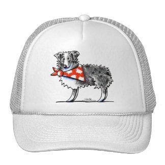 AUSSIE-M Australian Shepherd Trucker Hats
