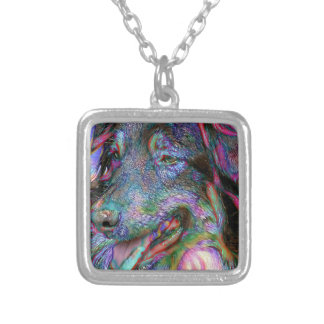 Aussie Main Man Silver Plated Necklace