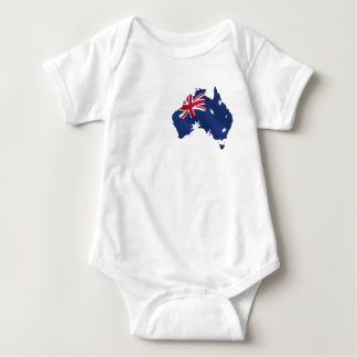 Aussie map flag baby bodysuit