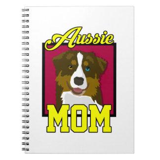 Aussie Mom Spiral Notebook