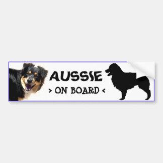 Aussie On Board Sticker Bumper Sticker