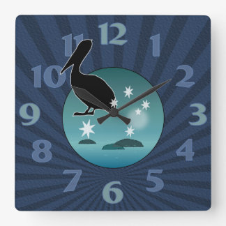 Aussie Pelican Icon Wall Clock