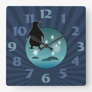 Aussie Penguin Icon Wall Clock