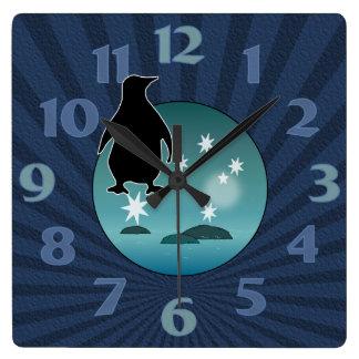 Aussie Penguin Icon Wall Clock