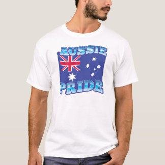AUSSIE PRIDE with an Australian Flag T-Shirt